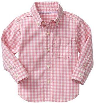 Gap Pink gingham shirt