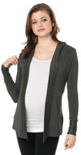 A Pea in the Pod Long Sleeve Open Front Maternity Hoodie