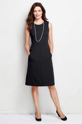 Lands' End Women's Sleeveless Pont? Sheath Dress