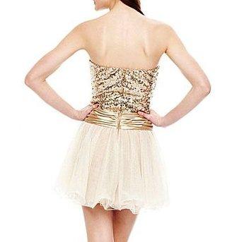 JCPenney Sequin Drop-Waist Dress