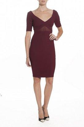 Elizabeth and James Dalia Dress - Bordeaux