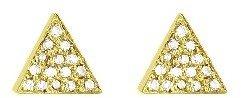 Jennifer Meyer Yellow Gold Diamond Triangle Studs