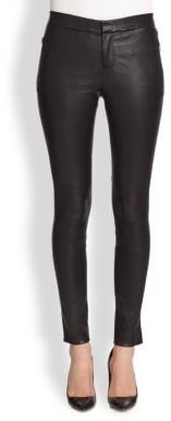 J Brand Beryl Leather Skinny Pants