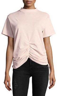 Carven Gathered Cotton T-Shirt