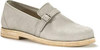 Swedish Hasbeens Driving Shoe Gray Nubuck