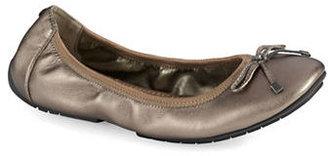 Me Too Halle Metallic Leather Ballet Flats