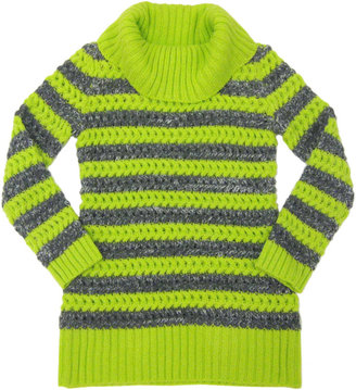 Takeout Girl Tweens 7-16 Striped Cowl-Neck Tunic