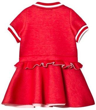 Fendi Red Branded Peplum Dress