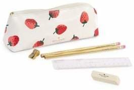 Kate Spade Strawberry Leather Pencil Case