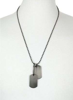 Topman Brushed Dog Tag Necklace