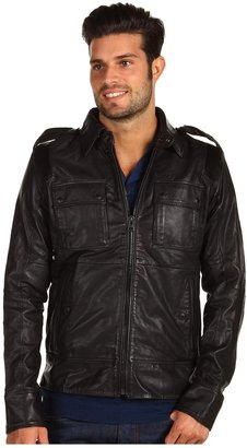 Diesel Lisardo Leather Jacket (Black) - Apparel