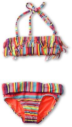 Roxy Kids - Sea Side Fringe Bandeau Set (Toddler/Little Kids) (Morning Glory) - Apparel