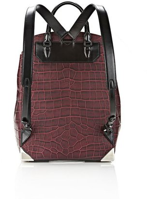 Alexander Wang Prisma Skeletal Backpack In Beet
