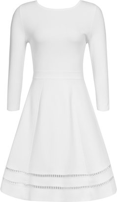 Reiss Didsbury KNITTED FIT AND FLARE DRESS