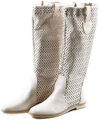 Baci Decorative Leather Knee Boots