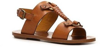 Ralph Lauren Maryann Leather Flat Sandal