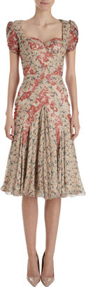 Zac Posen Floral Bustier Dress
