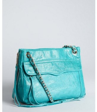 Rebecca Minkoff turquoise leather 'Swing' chain shoulder bag