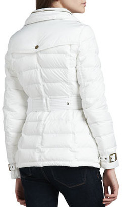 Burberry Belted Puffer Trench with Hood