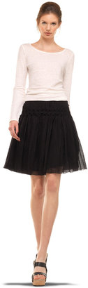 Max Studio Crinkled Gauze Skirt
