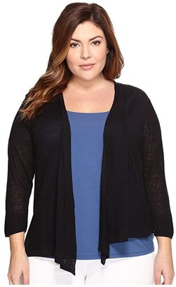 Nic+Zoe Plus Size 4-Way Cardy (Terracotta) Women's Sweater
