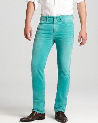 Joe's Jeans Brixton Slim Straight Fit in Distressed Aqua Blue