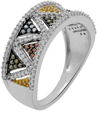 10k White Gold 1/2-Ct. T.w. Diamond Chevron Ring