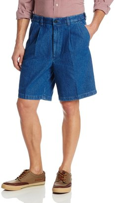 Haggar Men's Work To Weekend Expandable Waist Pleat Front Short
