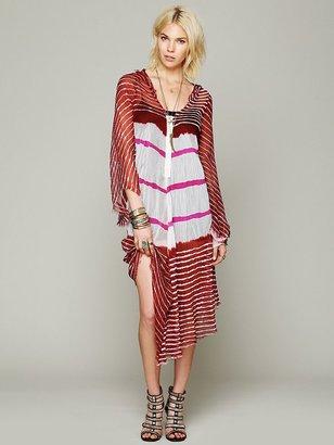 Free People Lov Project Lovely In Stripes Hooded Kaftan