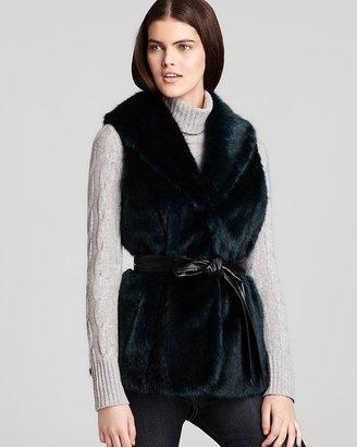 Ellen Tracy Colored Faux Fur Vest
