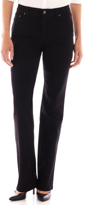 JCPenney St. John's Bay St. Johns Bay Secretly Slender Straight-Leg Jeans
