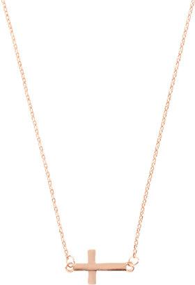 Asos Fine Cross Charm Necklace