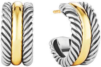 David Yurman Cable Classics Hoop Earrings with Gold