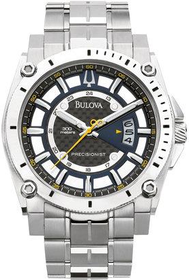 Bulova Men's Precisionist Stainless Steel Bracelet Watch 47mm 96B131