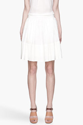 Vanessa Bruno Ivory white silk full Skirt