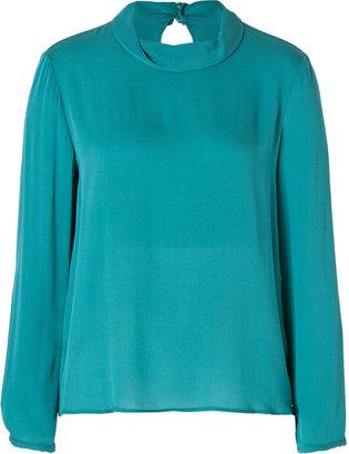 Tara Jarmon Silk Blouse in Turquoise