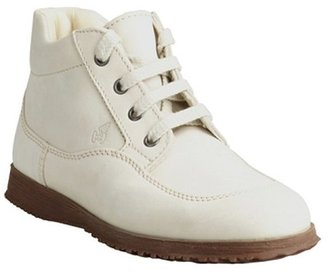 Hogan cream leather lace-up sneakers