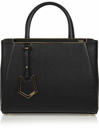 Fendi - 2jours Small Textured-leather Shopper - Black $1,900 thestylecure.com