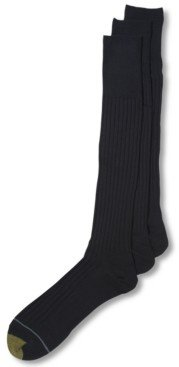 Gold Toe Adc Canterbury Over the Calf 3 Pack Crew Dress Men's Socks