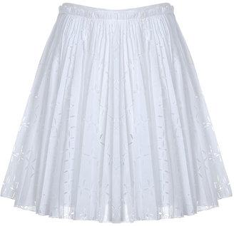 Roberto Cavalli White Flowing Skirt