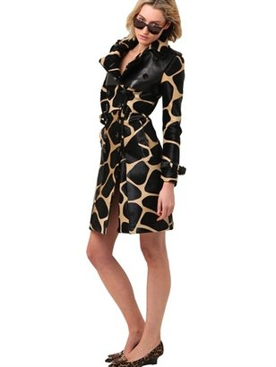 Burberry Printed Ponyskin And Nappa Trench Coat