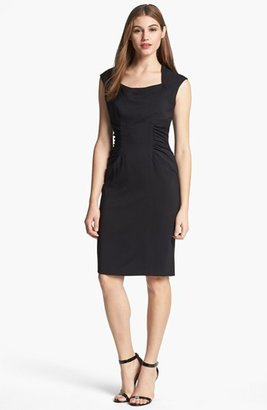 Adrianna Papell Ruched Sheath Dress