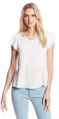 BCBGeneration Women's Neckline Cutout Top
