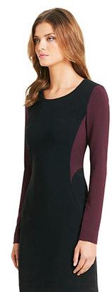 Octavia Long Sleeve Colorblock Dress