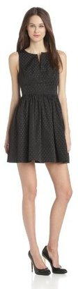 Juicy Couture Women's Jacquard Fit-and-Flare Dress