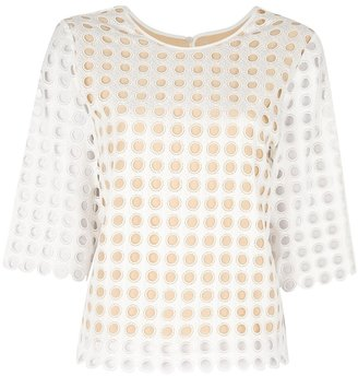 Chloé slim perforated shirt
