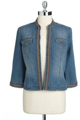 Rafaella Petite Embellished Denim Jacket