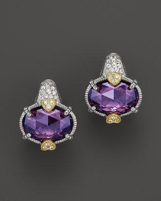Judith Ripka Oval Stone Ambrosia Earrings with Pavé Stem