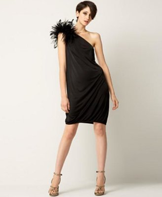 DSquared Dsquared2 Ostrich Feather Dress