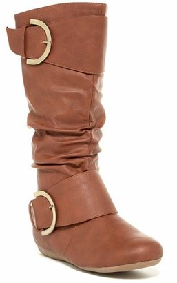 Top Moda Bank Mid Knee Flat Boot